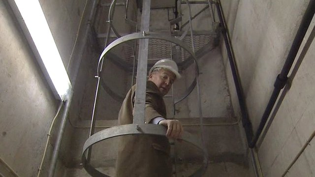 Mervyn Jess in the bunker