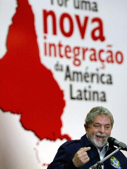 Lula da Silva en el XII Foro de Sao Paulo en 2005