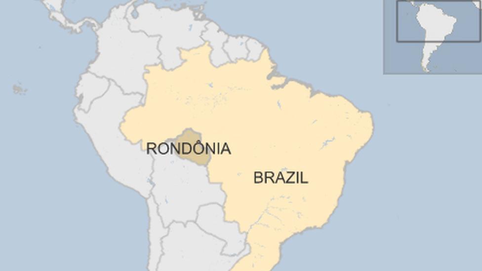 Mapa Brazila na kojoj je prikazana Rondonija