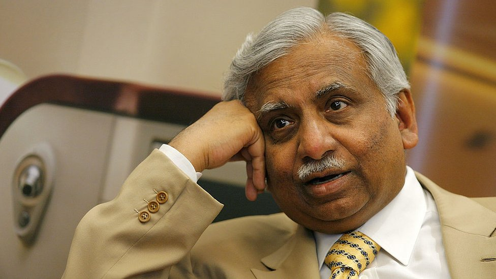 Jet Airways Chairman Naresh Goyal of India pictured during an interview in Hong Kong.