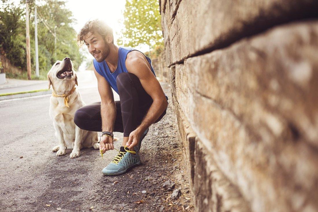 Ve a correr con tu perro.
