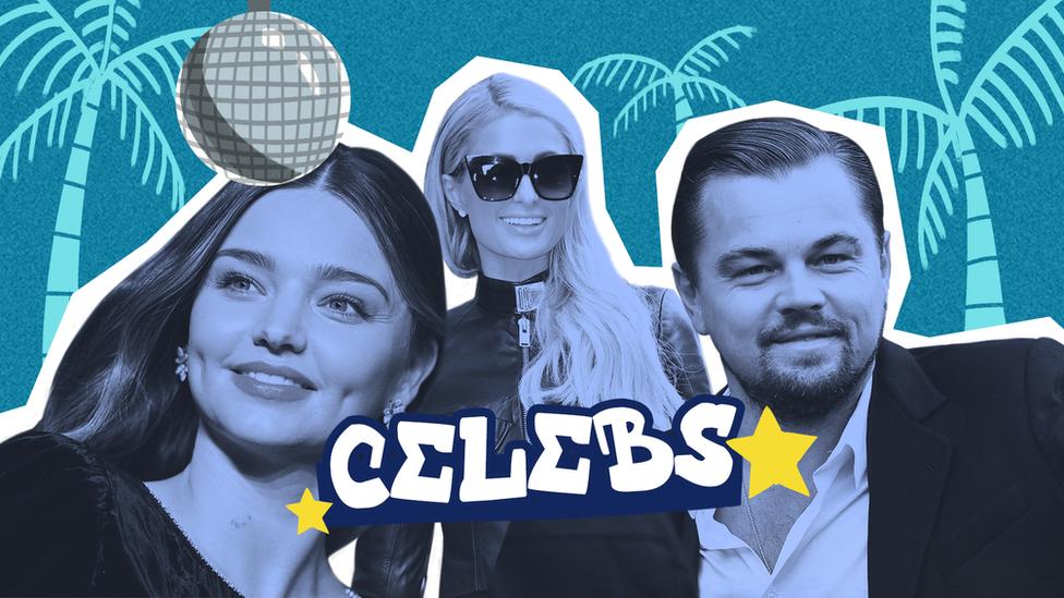 Miranda Kerr, Paris Hilton dan Leonardo DiCaprio.