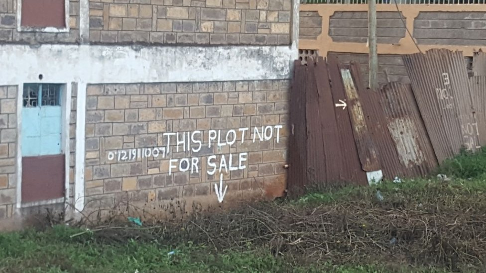 Notice that land is not for sale