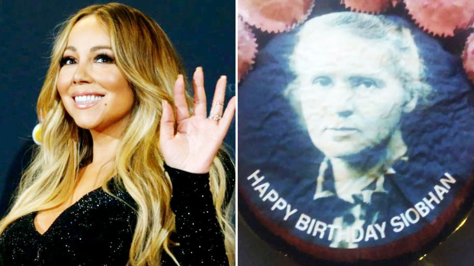 Marie Curie and Mariah Carey cake mix-up 'was a joke'