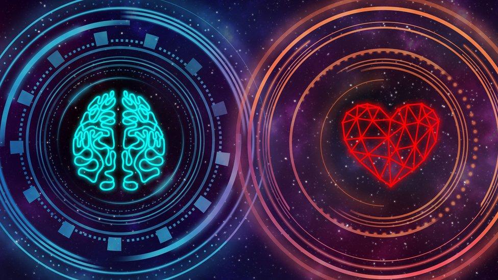 Gráfica sobre el cerebro y el corazón