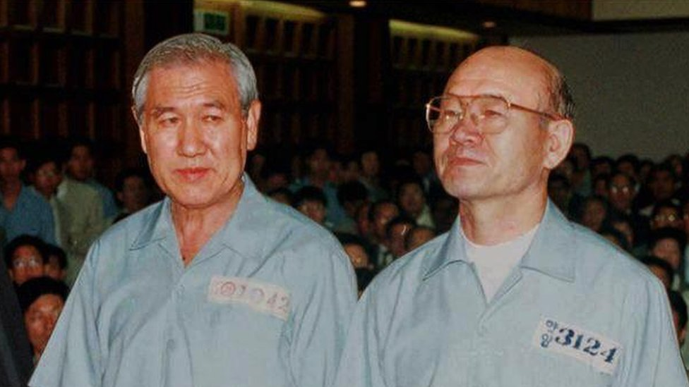 Roh Tae-woo (izquierda) y Chun Doo-hwan