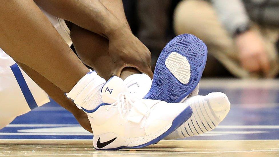 La zapatilla rota y el pie de Williamson.