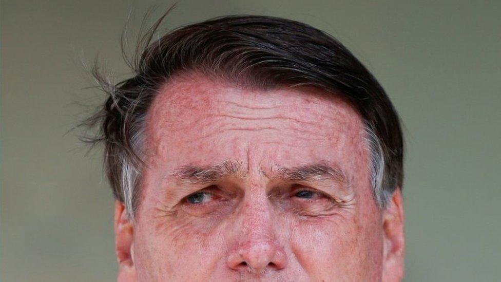 Rosto de Jair Bolsonaro