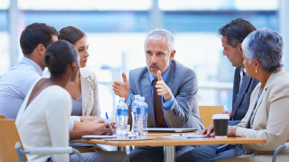 Junta de reunión ejecutiva