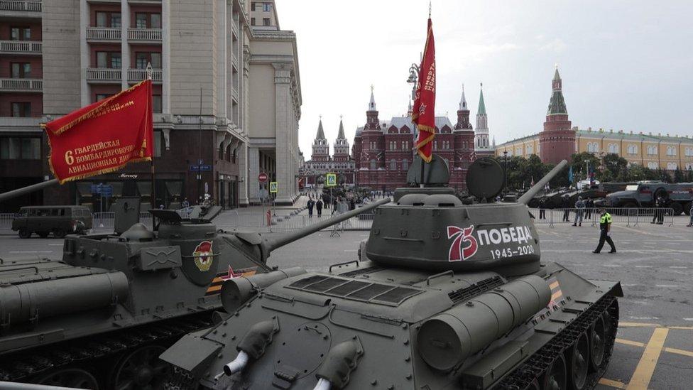 Tenkovi T-34 Vintage T-34 tanks - stub Crvene armije u Moskvi