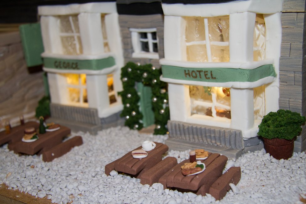 George Hotel made from cake