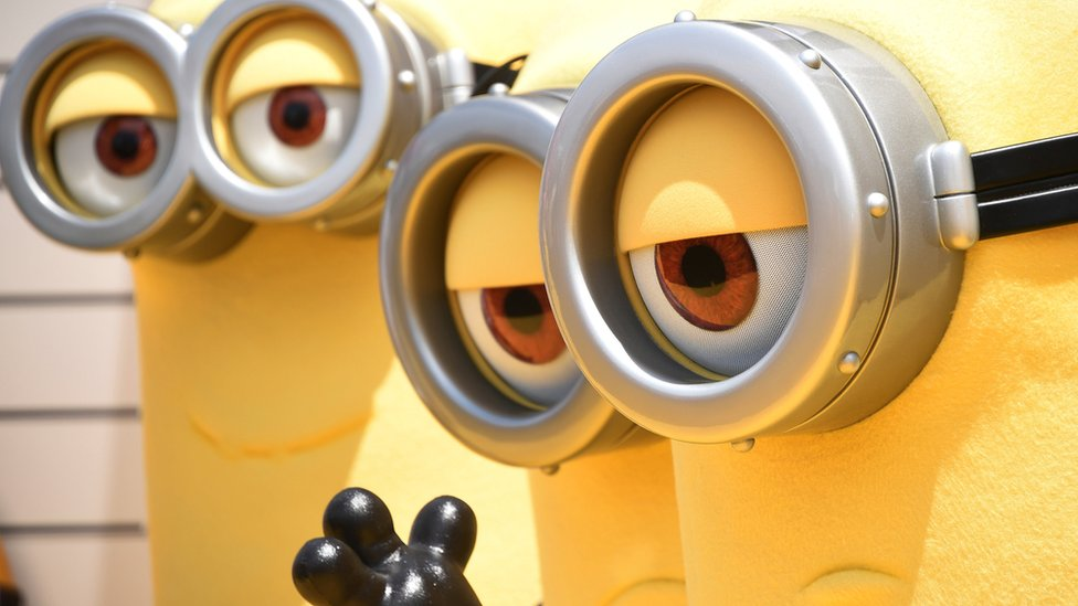 People in Minions costumes at the Despicable Me 3 premiere in Los Angeles