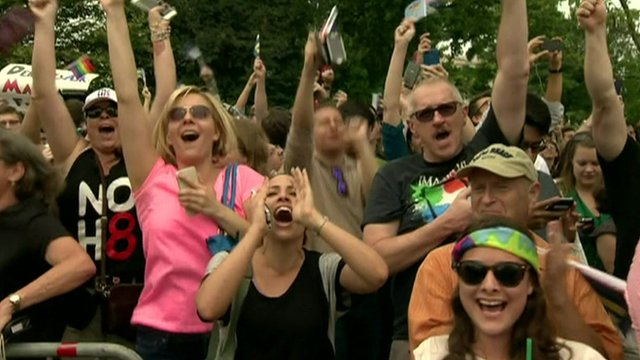 Celebrations after gay marriage ruling