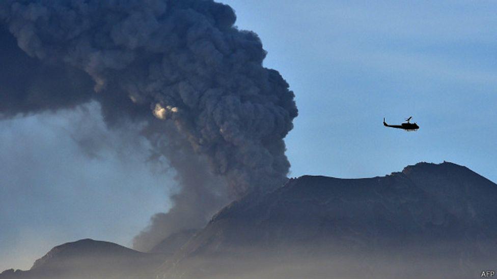 Erupción del volcán Calbuco, en el sur de Chile.