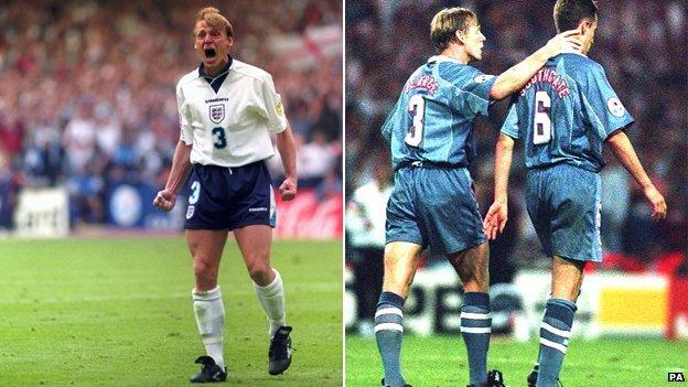 Stuart Pearce and Gareth Southgate in 1996