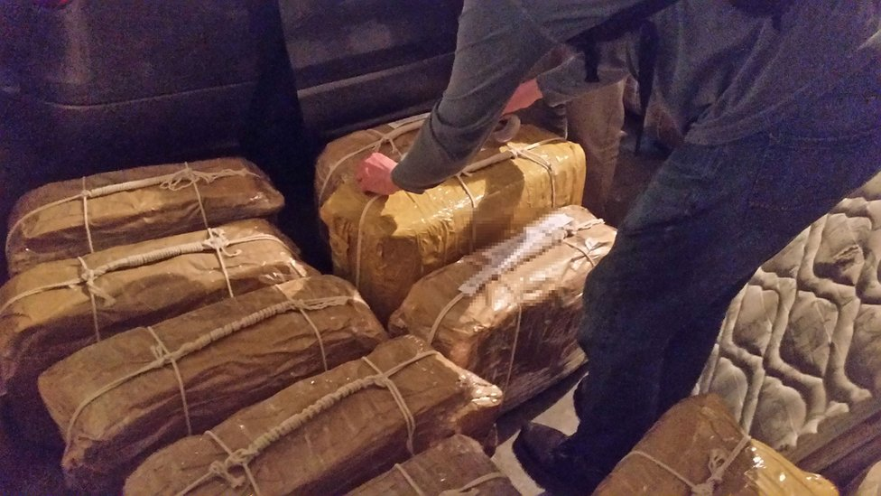 The cocaine found at the Russian embassy