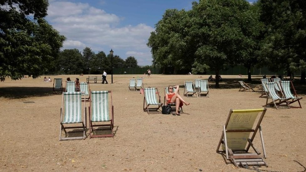 Deck chair in Hyde Park
