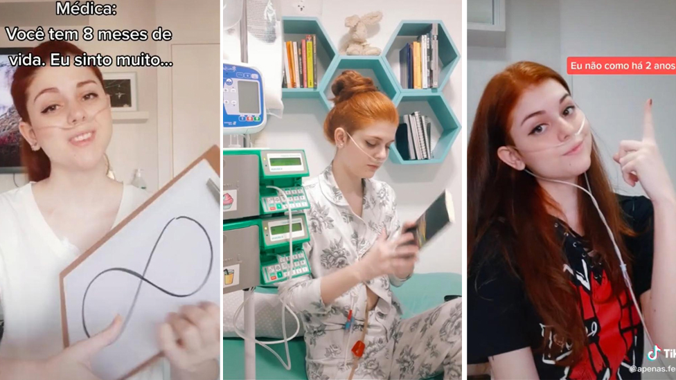 A selection of screen shots from Fernanda's TikTok videos
