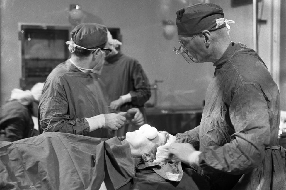 A cataract operation at Moorfields Eye Hospital in 1962