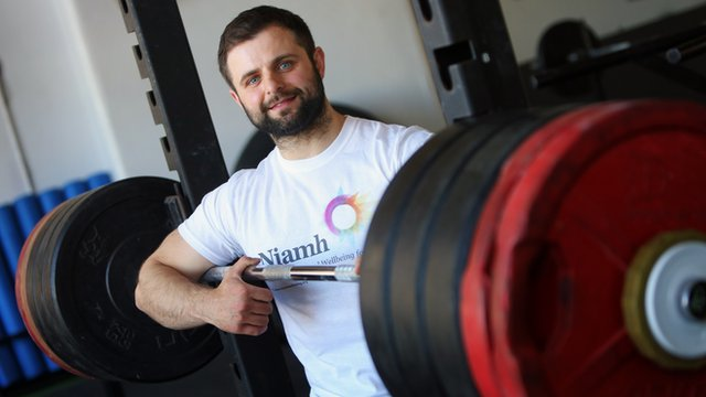 Rory Girvan is using his powerlifting to help raise awareness of mental health issues among men