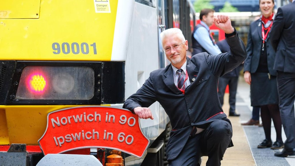 Norwich to London train hits 30 and 90-minute targets