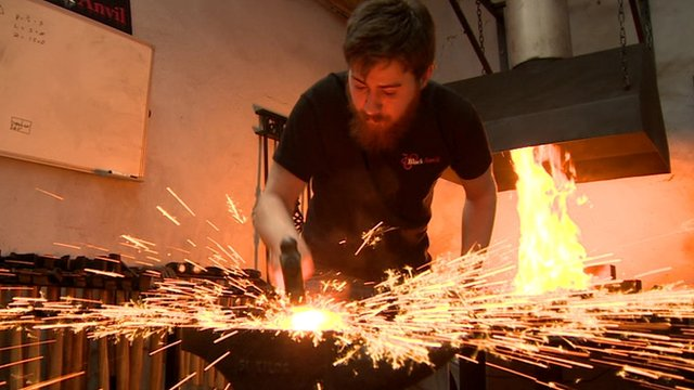 Teenage blacksmith Ben Perkins forges social media following thumbnail