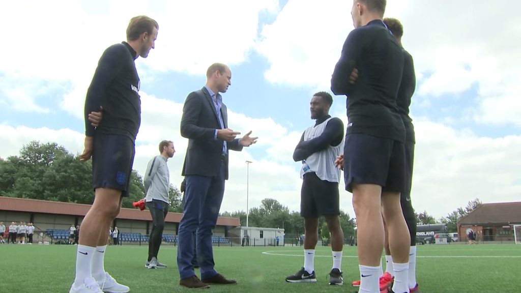 Prince William's praise for Danny Rose on England visit