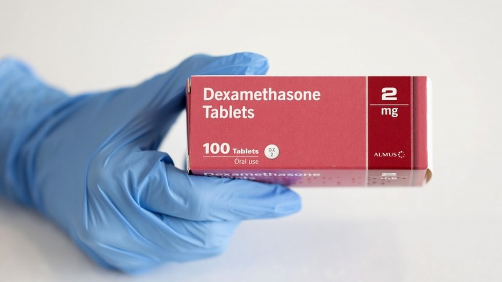 A box of dexamethasone tablets for oral use