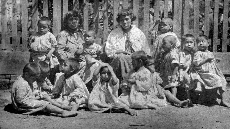 Mulheres e crianças Xokleng
