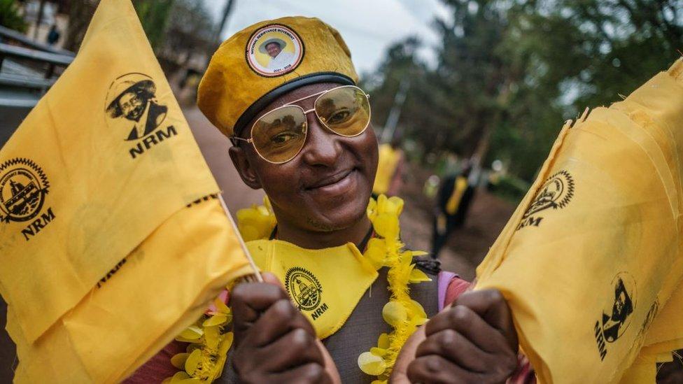 Museveni supporter