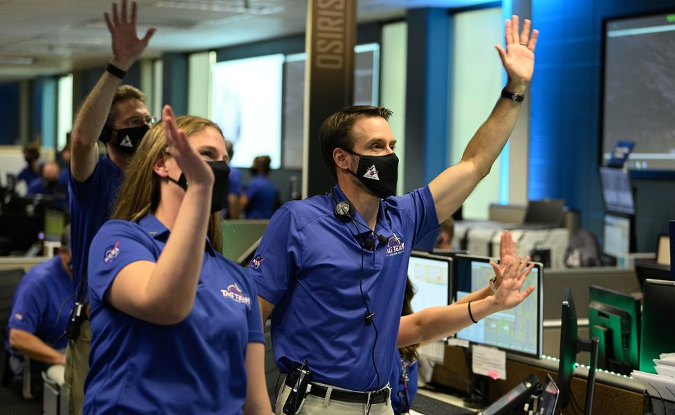 Elation in mission control