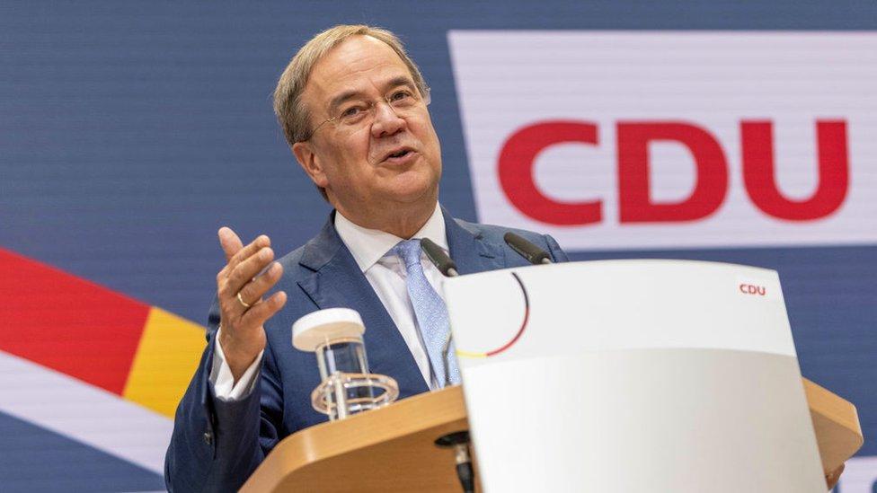 Tarihinin en kötü seçim sonucunu alan CDU/CSU'nun başbakan adayı Armin Laschet
