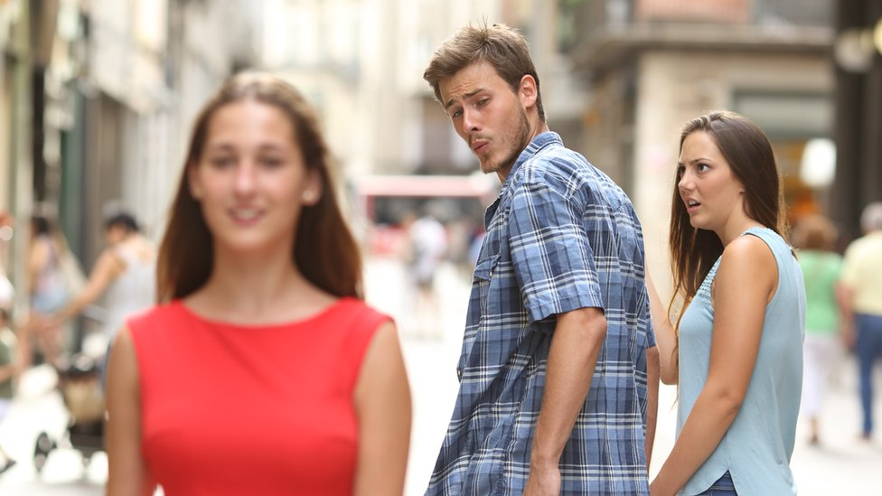 """The Getty stock image which became the """"distracted boyfriend"""" meme"""