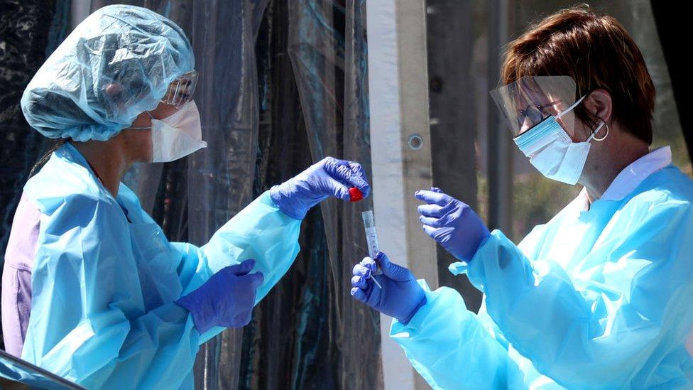 """世衛官員表示,期望疫苗在短期內研製完成是""""不現實的""""。"""