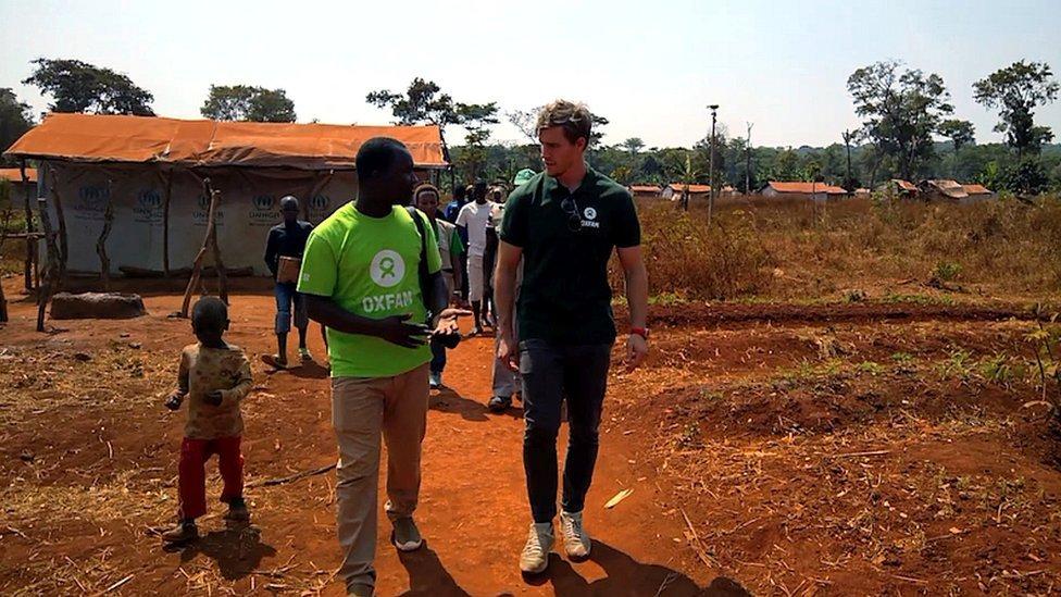 Andrew Trimble during his visit to Tanzania