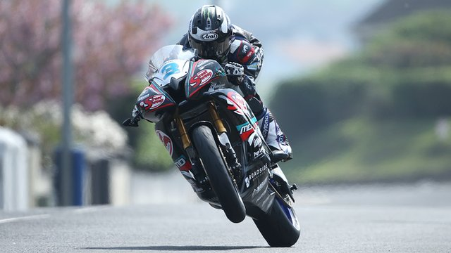 Michael Dunlop in action at North West 200 Tuesday practice