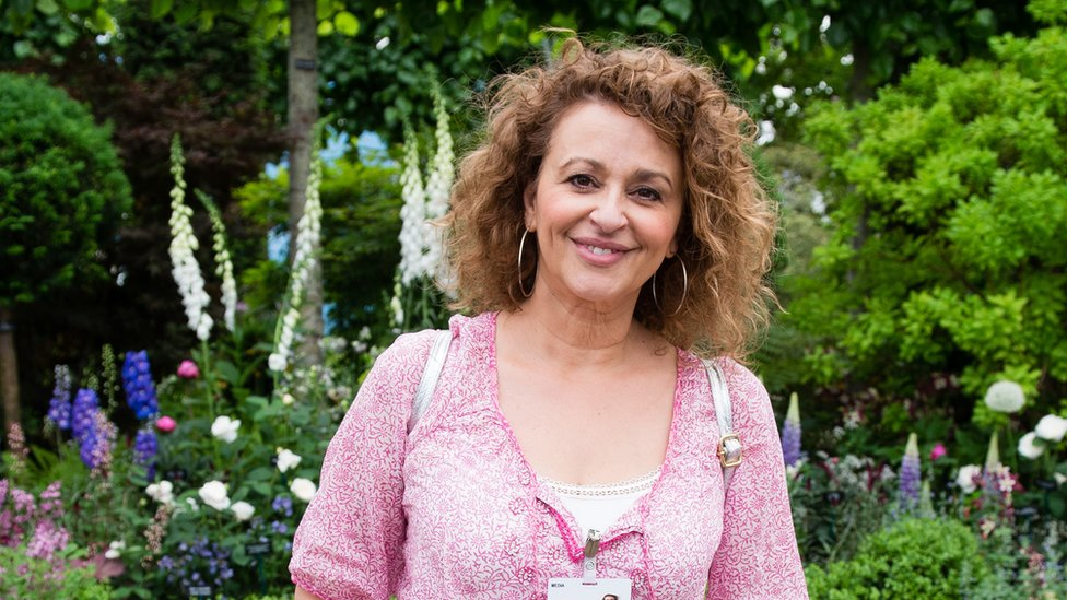 Nadia Sawalha pictured at the Chelsea Flower Show in 2017