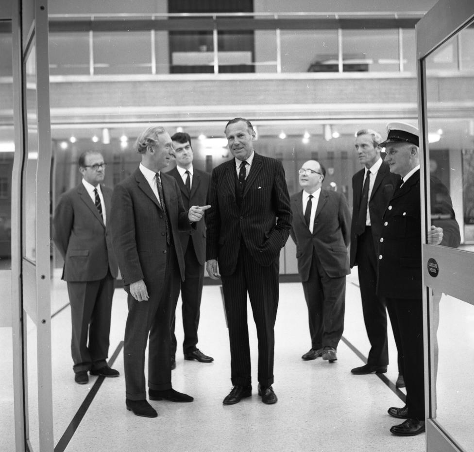 Džon Arkel u poseti BBC Velsu 1970. godine