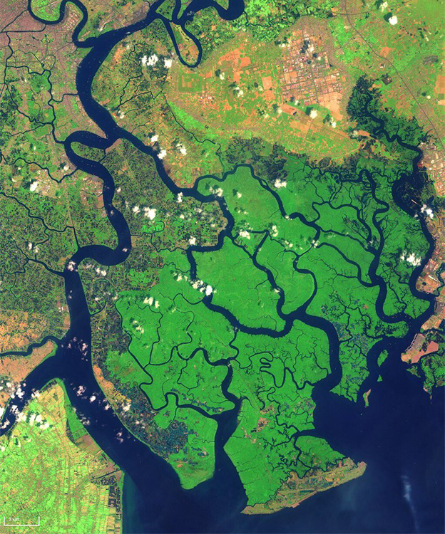 The Mekong Delta southeast of Ho Chi Minh City