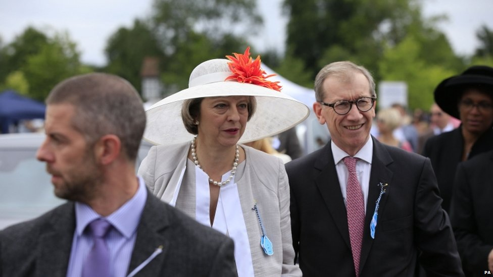 Theresa May with her husband Philip at the Henley Regatta