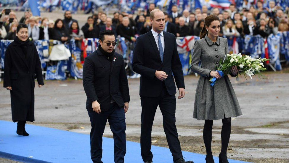 Prince William and Kate visit Leicester helicopter crash site