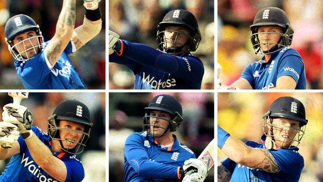 England batsmen