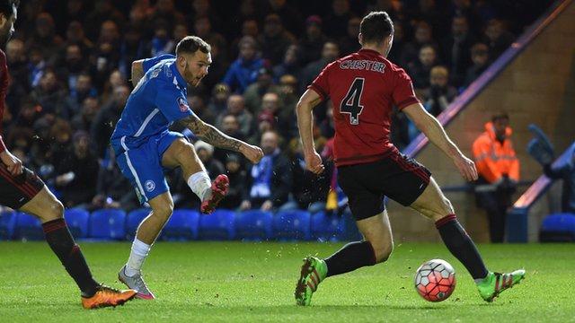 Jon Taylor gives Peterborough shock lead
