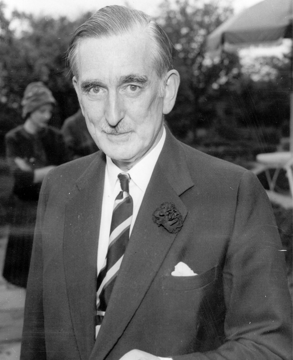 Hugh Fraser, known as the Scottish Drapery King, in London at the time of the battle for control of Harrods. Fraser (1903 - 1966) worked his way up through his father's drapery company, becoming a director at the age of 21 and chairman when his father died.