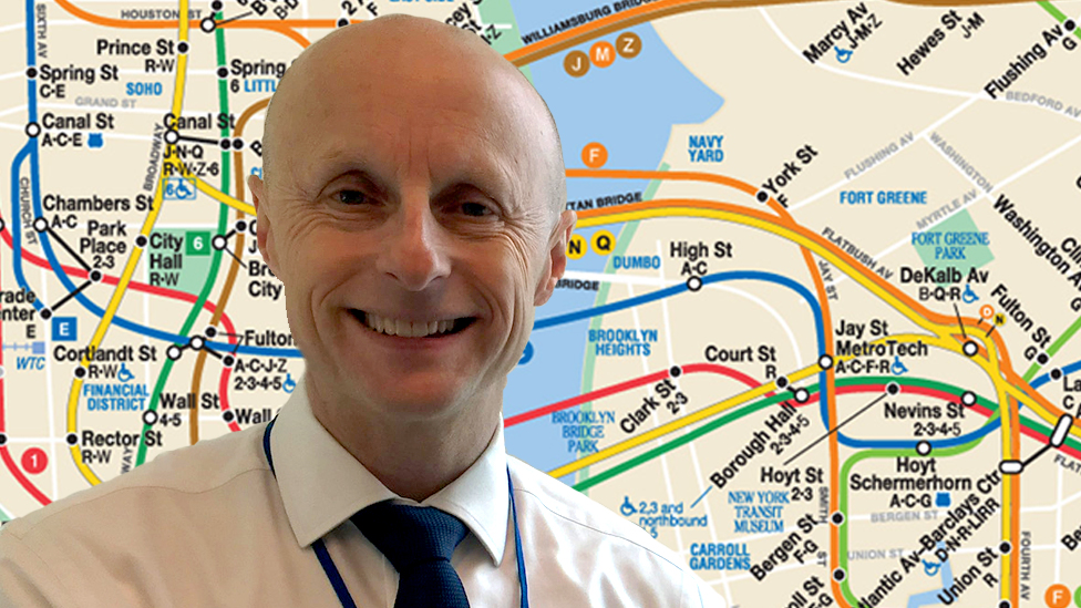 Andy Byford with subway map behind him