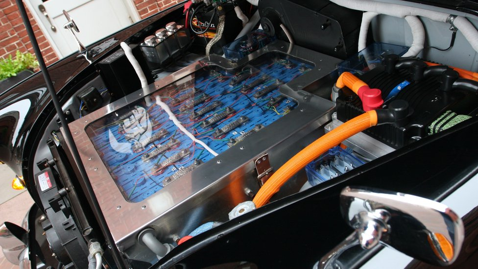 Batteries in an electric cab