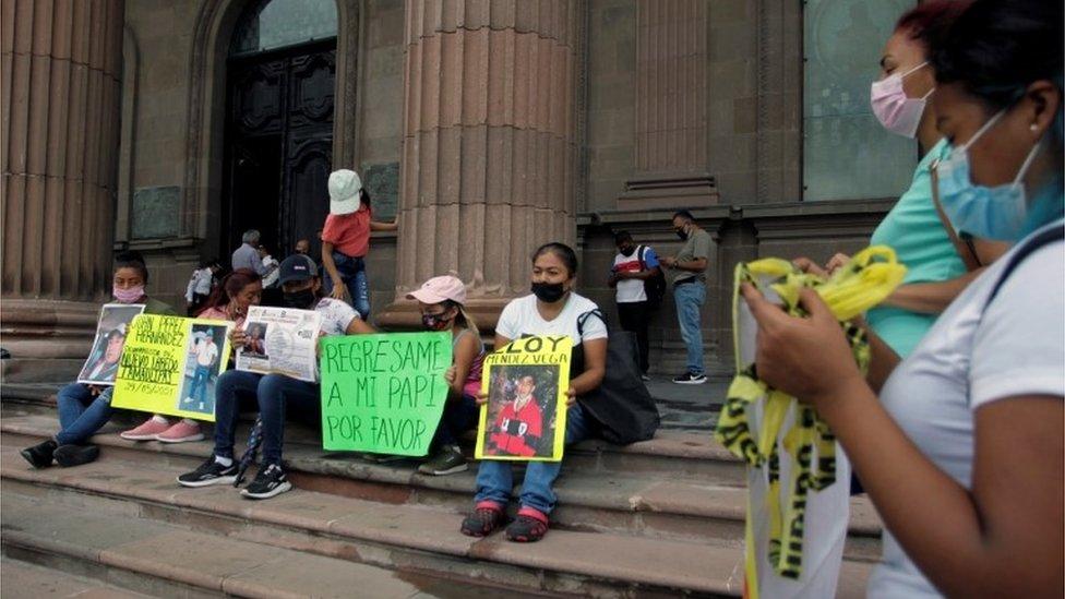 Protesta por los desaparecidos entre Nuevo León y Tamaulipas