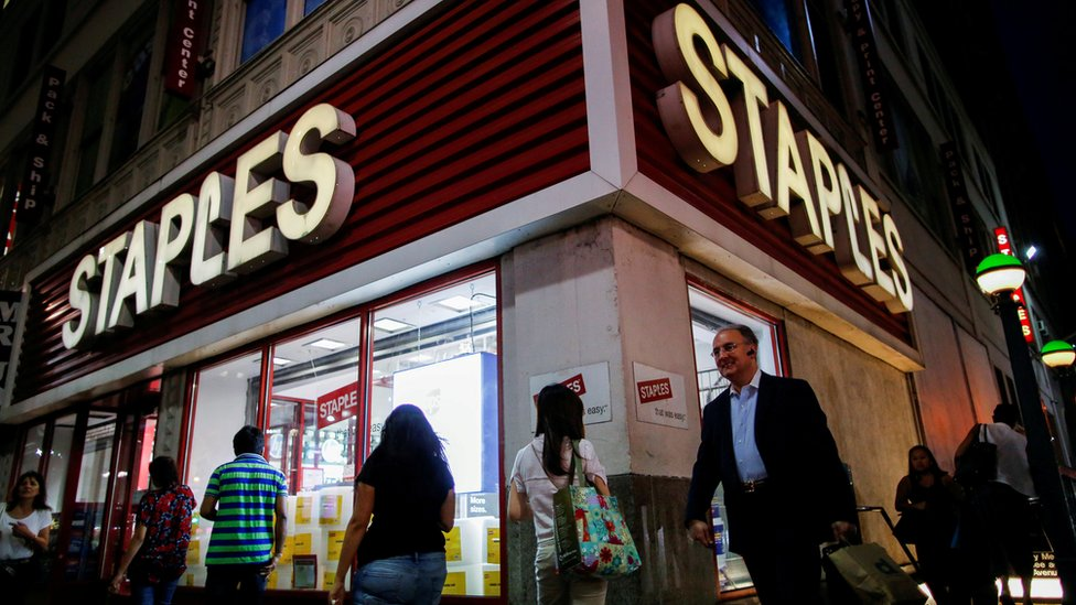 Staples Brand To Disappear From Uk High Streets Bbc News