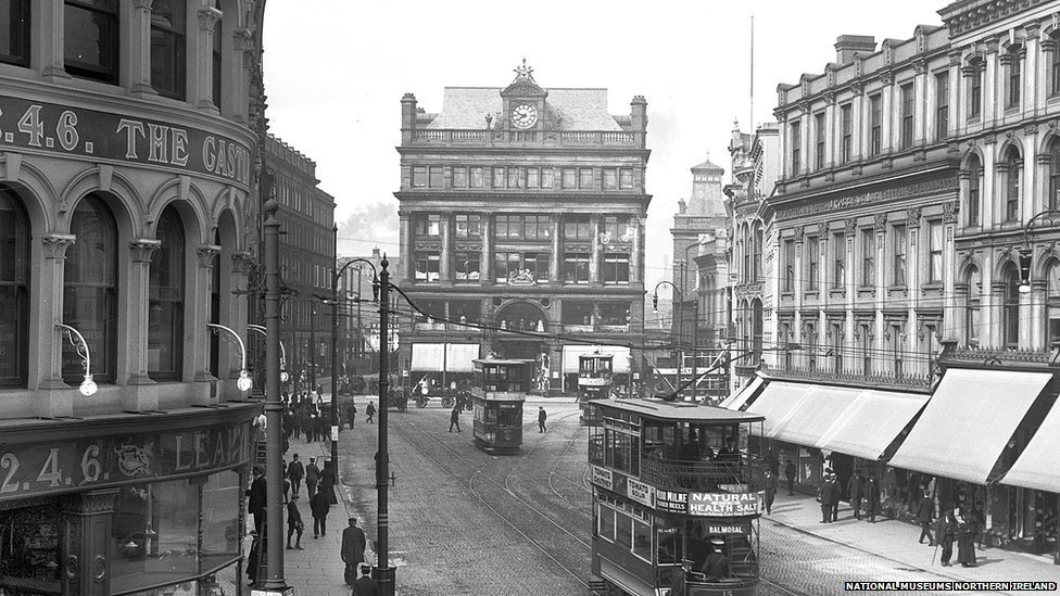 An archive view of Castle Place in Belfast