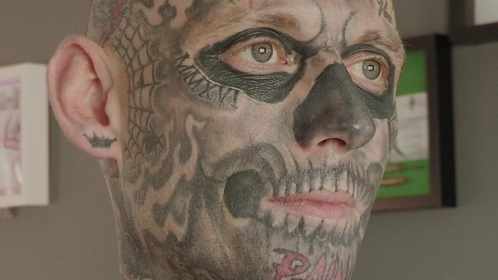 Tattoos: Bangor man 'is addicted' and wants more
